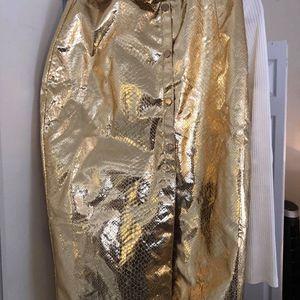Gold Midi Skirt